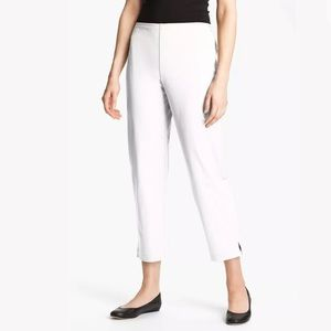 New Eileen Fisher Stretch Cotton Twill Ankle Pant